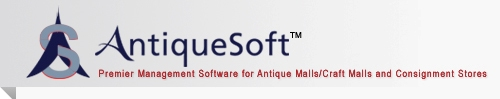 AntiqueSoft Premier Management Software for Antique Malls/Craft Malls and Consignment Stores
